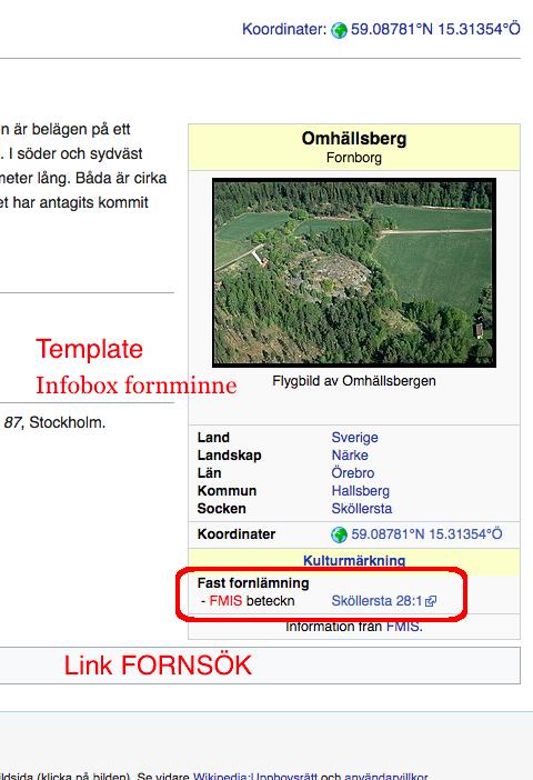 Example link Fornsök