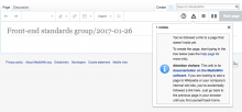 T156407 edit notices _ Creating Front-end standards group:2017-01-26 - MediaWiki 2017-01-26.png (452×970 px, 92 KB)